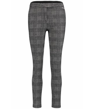 Penn & Ink Trousers check zwart W18F378