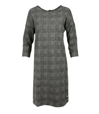 Penn & Ink Dress check zwart W18F382