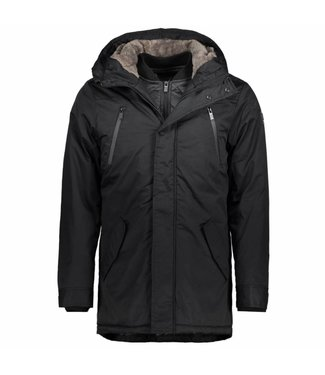 No Excess Jacket, long fit, hooded, black 87630801