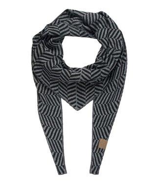 Zusss Puntsjaal grijs/zwart 03PS18n