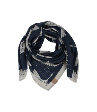 Zusss Frivole sjaal nachtblauw 03FS18n