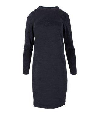 Zusss Fluweel jurkje turtleneck nachtblauw 03FJ18n