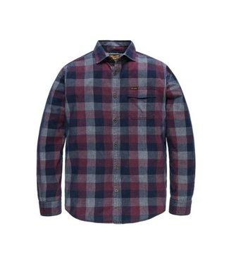 PME Legend Long Sleeve Shirt Cord Check Mart Chocolate Truffle PSI186221