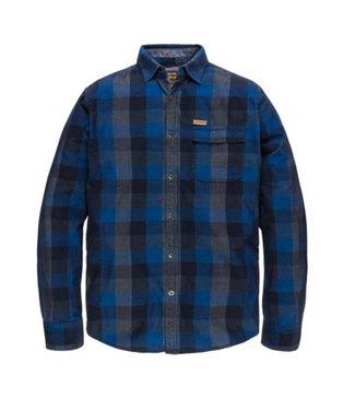 PME Legend Long Sleeve Shirt Cord Check Mart Estate Blue PSI186221