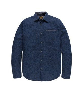 PME Legend Long Sleeve Shirt Poplin Print Owen Salute PSI186203