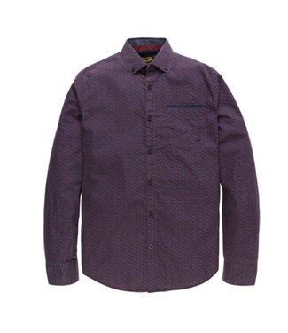 PME Legend Long Sleeve Shirt Poplin Print Wats: Chocolate Truffle PSI186201