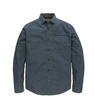 PME Legend Long Sleeve Shirt Poplin Print Wats: Deep Depths PSI186201