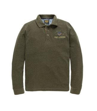 PME Legend Long sleeve polo Space Pique Peat PPS186871