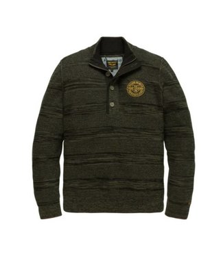 PME Legend Half button collar Cotton Ghibli Deep Depths PKW186301