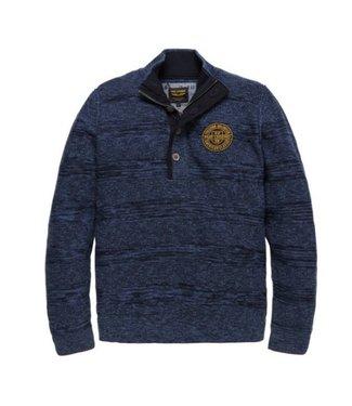 PME Legend Half button collar Cotton Ghibli Estate Blue PKW186301