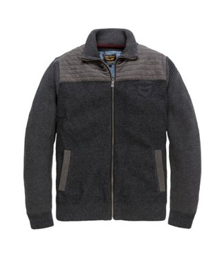 PME Legend Zip jacket Wool cotton Mix Anthracite PKC186320