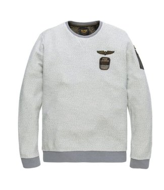PME Legend Long sleeve r-neck Wayne 2-tone Tow: Bone White PTS185515
