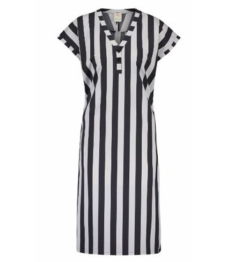 Penn & Ink Dress stripe grijs s18n228