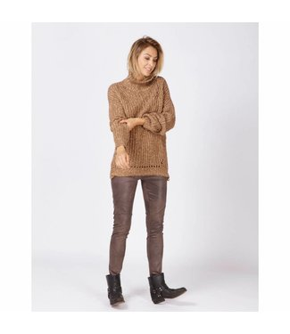 Moscow Cowl sweater bruin FW18-57.02