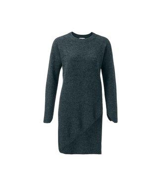 Yaya ASSYMETRIC DRESS JADE GREEN MELANGE 180012-823