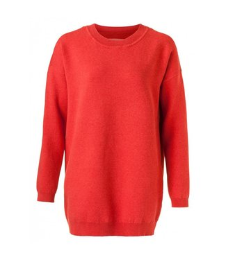 Yaya BIG OVERSIZED SWEATER POMPEIAN RED 100028-823