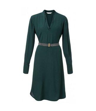 Yaya WOVEN DRESS W METALLIC BELT JADE GREEN 180109-822