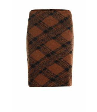 Poools Skirt wool bruin 833231