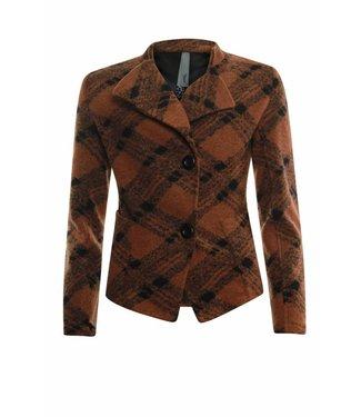 Poools Jacket wool bruin 833238