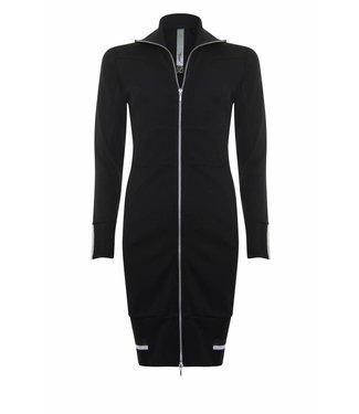 Poools Dress zip zwart 833123