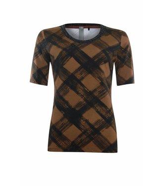 Poools T-shirt check bruin 833249