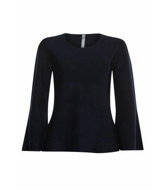 Poools Pullover wide sleeve zwart 833229