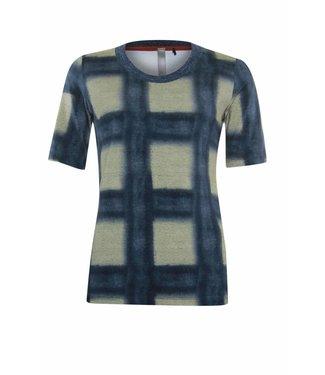 Poools T-shirt check blauw 833249