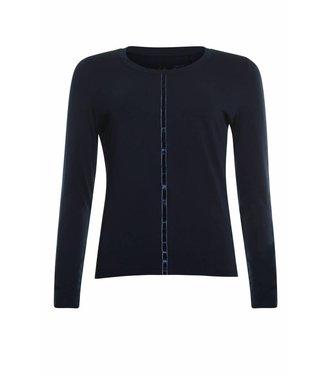 Poools T-shirt plain donkerblauw 833179