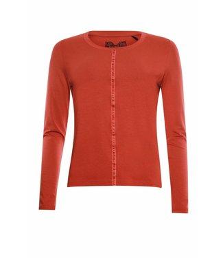 Poools T-shirt plain oranje 833179