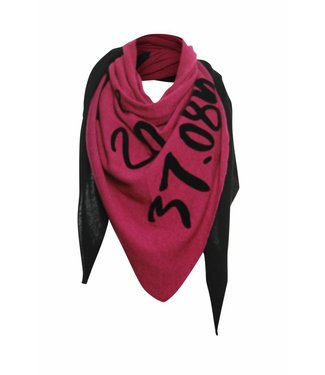 Poools Scarf text roze 833301