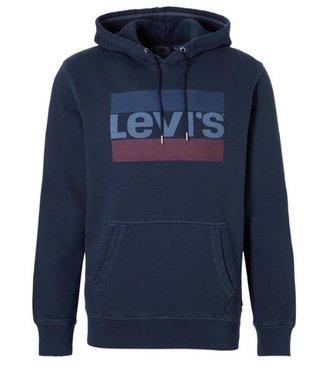 Levi's Graphic po hoodie donkerblauw 19491-0036