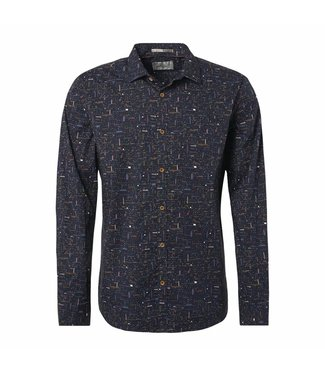 No Excess Shirt, all-over printed multi navy 87450901