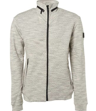 No Excess Sweater, full zip Cardigan, grey melange 87100911