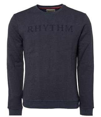No Excess Sweater, R-Neck, Melange, navy 87130903