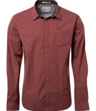 No Excess Shirt, allover printed, stret Plum 87430803