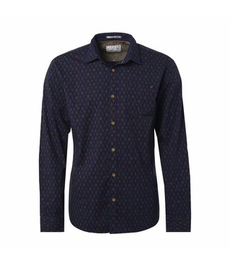 No Excess Shirt, allover printed, stret navy 87450906