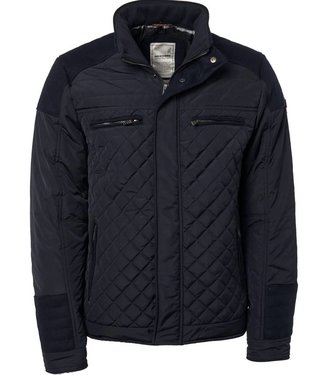 No Excess Jacket, short fit motor, quilting, navy 87630905