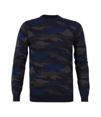 Petrol Industries Knitwear round neck basic donkerblauw M-FW18-KWR252