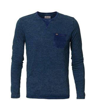 Petrol Industries T-shirt longsleeve r-neck donkerblauw M-FW18-TLR604