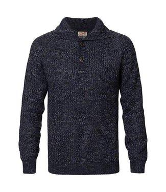 Petrol Industries Knitwear collar blauw M-FW18-KWC251