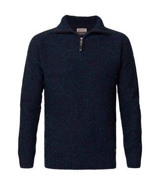 Petrol Industries Knitwear collar blauw M-FW18-KWC242