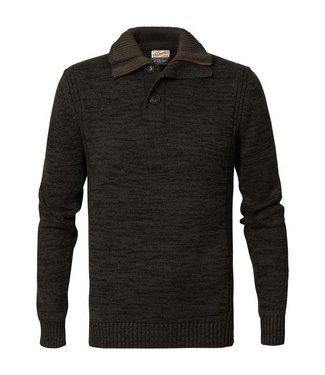 Petrol Industries Knitwear collar groen M-FW18-KWC206