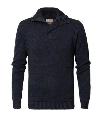 Petrol Industries Knitwear collar blauw M-FW18-KWC206