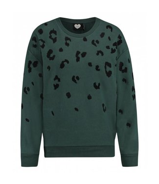 Sweater urban jungle groen 1802041011