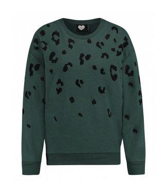 Sweater urban jungle groen 1802041011