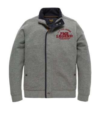 PME Legend Zip jacket Brushed Falcon Mid Grey Melee PSW185410