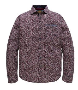 PME Legend Long Sleeve Shirt Poplin Print Seth Salute PSI185204