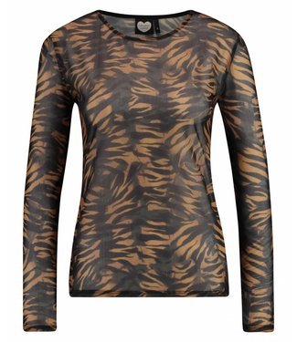 Longsleeve wild tiger bruin 1802040610