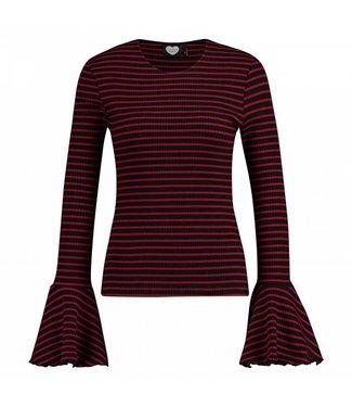 Longsleeve mono stripe rood 1802040608
