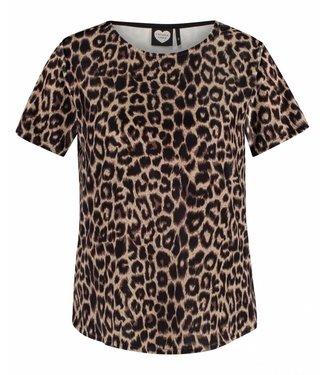 T-shirt wild scene bruin 1802040212
